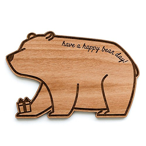 Happy Bear-Day Laser Cut Wood Birthday Card (Greeting Card / Birthday Gift / Personalized Available) by Cardtorial