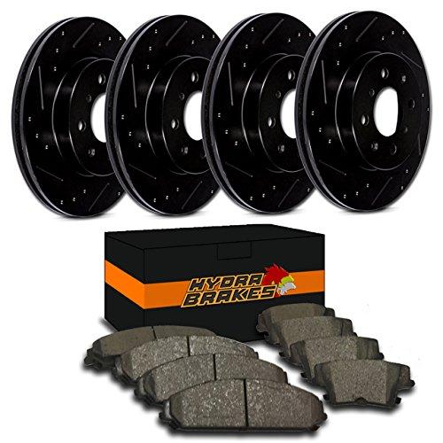Hydra Brakes - FITS 2005 2006 DODGE STRATUS SEDAN Drill Slot Brake Rotors CERAMIC ()