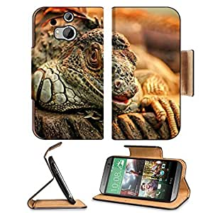 Animals Reptiles Iguana Branches Ready Attack HTC One M8 Flip Case Stand Magnetic Cover Open Ports Customized Made to Order Support Ready Premium Deluxe Pu Leather 6 4/16 Inch (158mm) X 3 4/16 Inch (82mm) X 9/16 Inch (14mm) MSD HTC1 cover Professional M 8 wangjiang maoyi