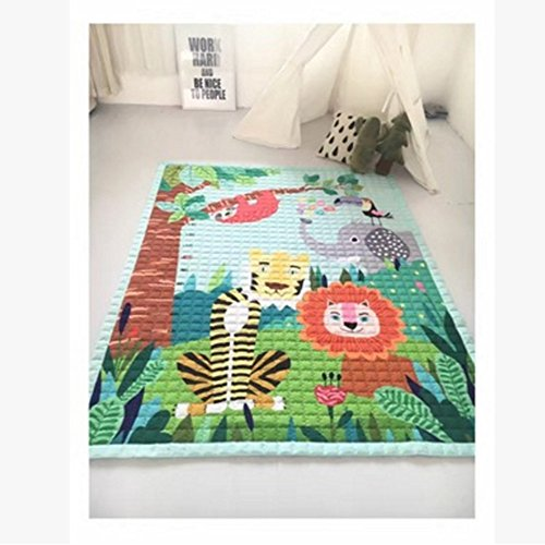 USTIDE Modern Style Baby Play Mat for Floor, 57 x 76.8 Inches | Reversible Thick, Extra Large Cotton Playmat for Boys,Normal