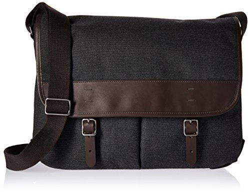 Fossil Men's Buckner, Buckner Messenger-Black by Fossil