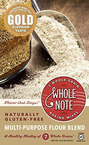 Whole Note 7-Whole-Grain, Multi-Purpose Flour Blend, Naturally Gluten-Free (Pack of 3) (No Flour Wheat)
