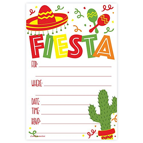 Fiesta Party Invitations (20 Count) with ()
