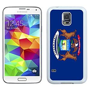 NEW Fashion Custom Designed Cover Case For Samsung Galaxy S5 I9600 G900a G900v G900p G900t G900w Michigan White Phone Case