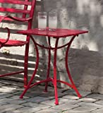 Cheap Gifted Living Red Metal Side Table