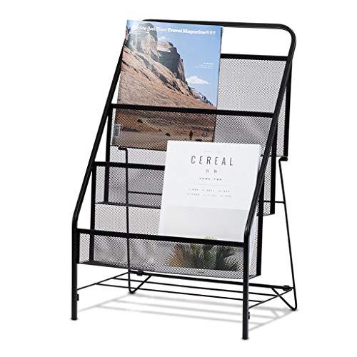 (Iron Children's Bookshelf, Three-Tier Grid Magazine Rack, Book Storage Rack, 41.62664.5 cm)
