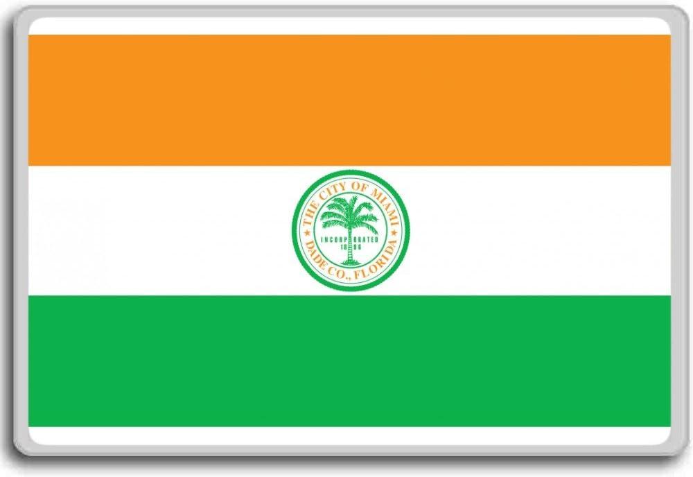 Miami city flag fridge magnet Usa Florida Calamita da frigo