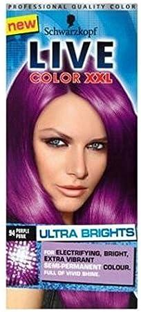 Schwarzkopf Live Color Xxl Tinte Para El Cabello De Color Púrpura Ultra-Brights 94 Punky Púrpura Semipermanente