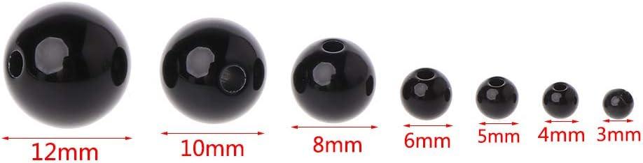 3 mm 6 mm 5 mm Occhi di Sicurezza per Bambini Nikunty 100Pcs 4 mm Colore: Nero 4