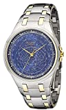 Accurist Celestial Timepiece Men's Quartz Watch with Blue Dial Analogue Display and Two Tone Stainless Steel Bracelet GMT117USA