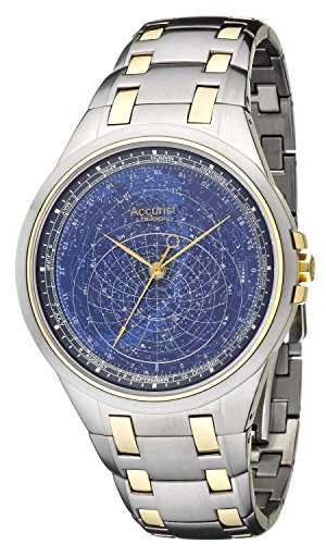 Accurist Celestial Timepiece Men's Quartz Watch with Blue Dial Analogue Display and Two Tone Stainless Steel Bracelet ()