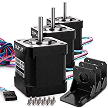 Quimat 3 PCS Nema 17 Stepper Motor Bipolar 1.7A 84oz.in(59Ncm) 47mm Body 4-lead w/ 1m 4-Pin Cable and Connector with Mounting Brackets for 3D Printer/CNC QD03