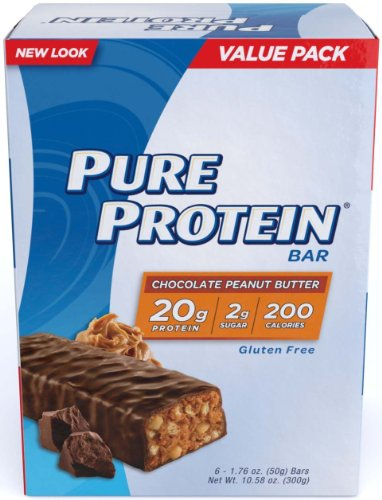 Pure Protein Chocolate Peanut Butter New Super Size Package (4 Packs x 6 Bars Each)