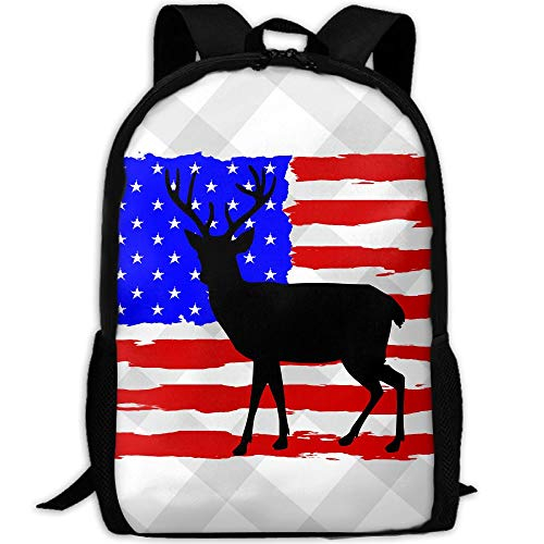 PengLi Deer Hunting Flag Adult Outdoor Leisure Sports Backpack and School Backpack