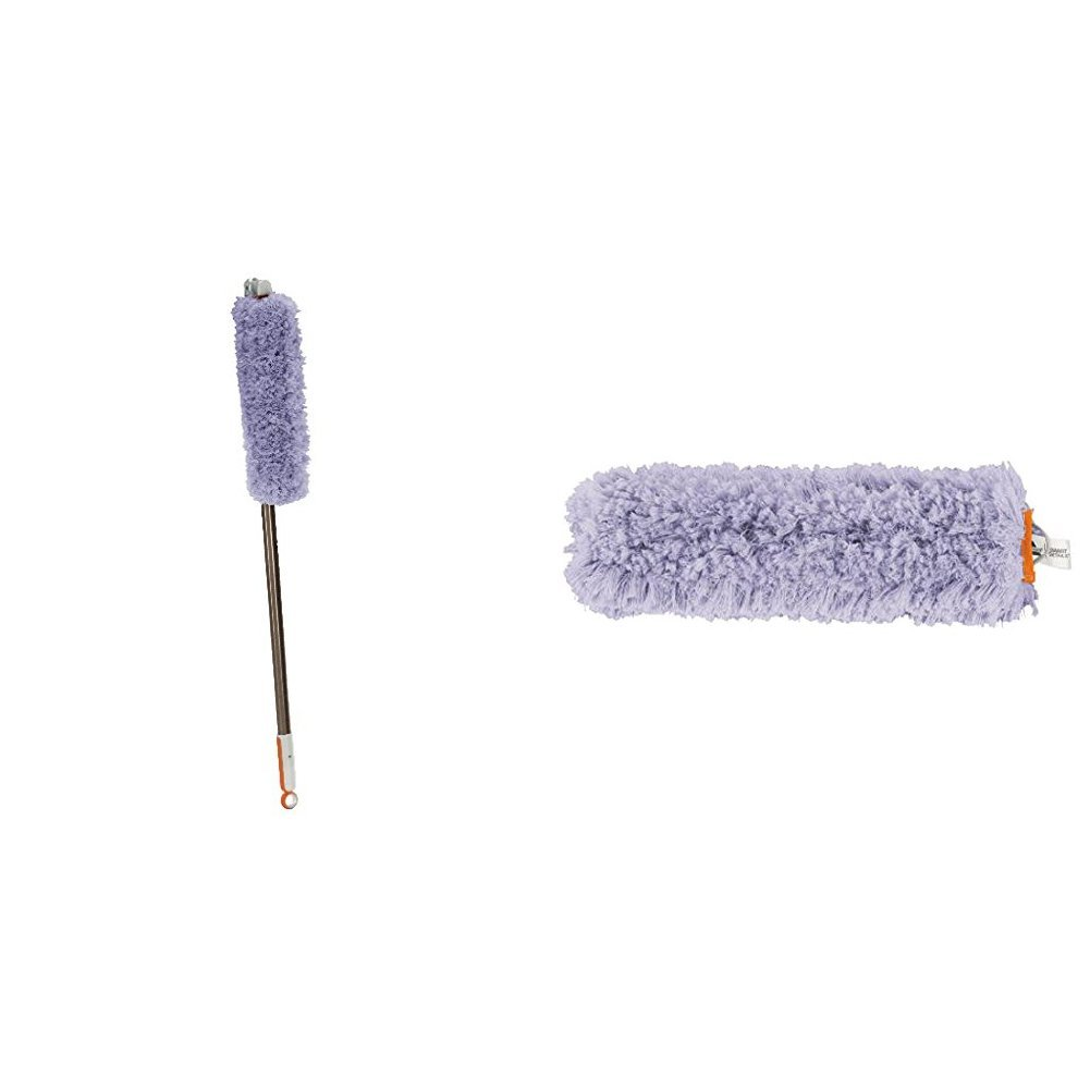 Bissell High Reach Duster with Pivoting Brush for Hard Surfaces, 1780 with High Reach Duster Refill(2 Pack)
