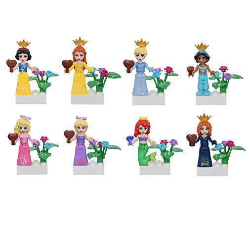 Sawaruita Girl Toys Beautiful Princess Building Blocks Minifigure Sets Compatible With All Major Brands by Sawaruita