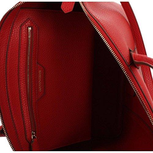Armani Y3a086yh22a Matte Bag Handle Rosso Top Emporio 0Xwx4X