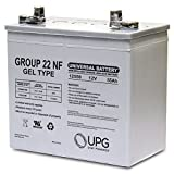 12V 55AH (Group 22NF) GEL Battery for Quickie P-220, S-646 SE Wheelchair