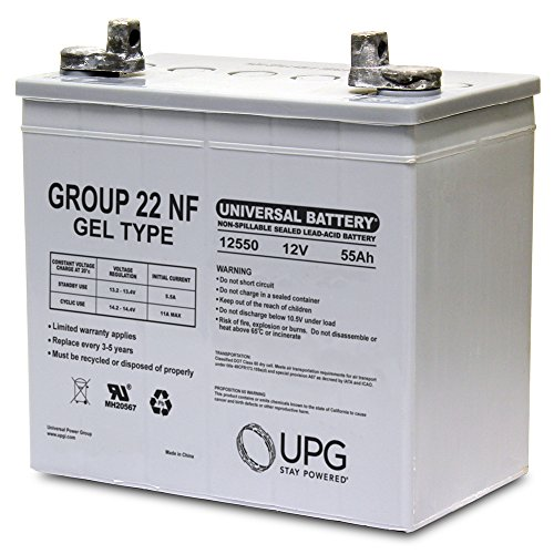 22nf Gel - Universal Power Group 12V 55AH (Group 22NF) GEL Battery for Quantum 600