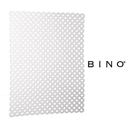 BINO Anti-Bacterial Kitchen Sink Protector Mat, Clear - Eco-Friendly - Mold and Mildew Resistant Kitchen Sink Mat with Quick Draining Design - Kitchen Sink Mats For Stainless Steel Sink