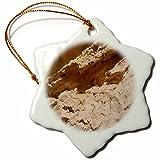 3dRose TDSwhite – Rock Photos - Rock Formation Design - 3 inch Snowflake Porcelain Ornament (orn_281916_1)
