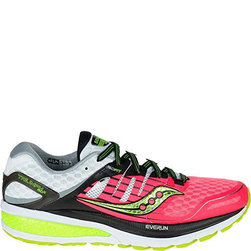 Saucony Women's Triumph Iso 2 Trail Running Shoes, Coral/Silver, 8.5 F UK