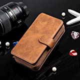 iPhone 6 Plus Wallet Case, iNNEXT Handmade Genuine Leather Wallet Cover Case, Luxury Leather Card Wallet Flip...
