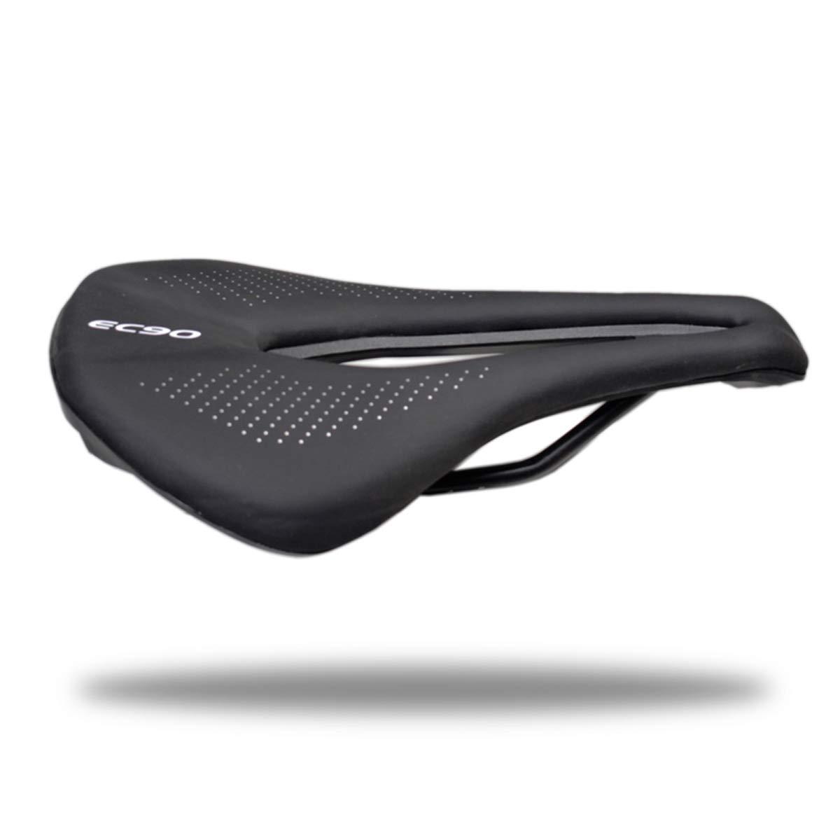 MTBロードバイクマウンテンバイクレーシング用プロフェッショナル自転車シートサドルPU通気性ソフトシートクッション  ブラック B07LG9H8ZM