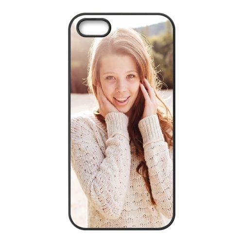 Brunette Sweater Girl Smile coque iPhone 4 4S cellulaire cas coque de téléphone cas téléphone cellulaire noir couvercle EEEXLKNBC23920
