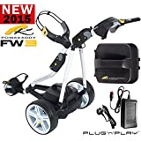 """""""NEW 2015"""" POWAKADDY FW3 WHITE ELECTRIC GOLF TROLLEY ALL BATTERY OPTIONS AVAILABLE + CHARGER & FREE GIFT (Lithium)"""