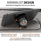 Magnetic Cell Phone Holder Kit by Wuteku | For All Vehicles, Phones & Tablets | UltraSlim Dashboard Mount | Universal Design | iPhone X, 8, 7 & Galaxy S8 and more | Top Rated by Uber & Lyft Drivers