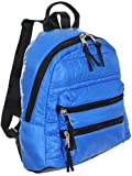 Sondra Roberts Ladies Handbags Quilted Parachute Backpack Blue