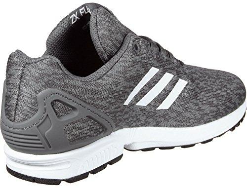 adidas Unisex-Kinder ZX Flux J Fitnessschuhe, Grau Grau (Gricin / Ftwbla / Ftwbla)