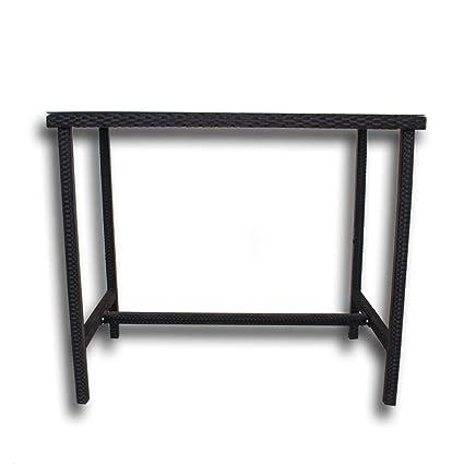 Fantastic Amazon Com Patio Table Rattan Bar Tables High Leg Bar Table Machost Co Dining Chair Design Ideas Machostcouk
