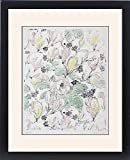 Framed Print of Design for Cretonne with flowers