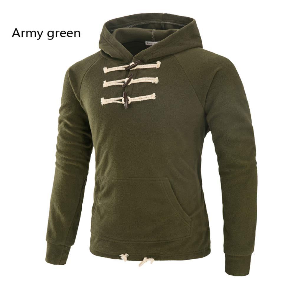 Männer Hoodie - Weich Und Warm Slim Casual Wear,Grün,L