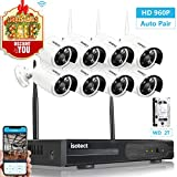 Security Camera System Wireless, Isotect 8CH HD WiFi NVR Video System 8pcs 1.3 Megapixel 960P Wireless CCTV Indoor Outdoor IP Cameras with 65ft Night Vision, 2TB Hard Drive