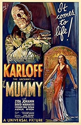 Old Tin Sign Boris Karloff The Mummy Classic Vintage Movie Poster MADE IN THE USA (Classic Scary Movie Posters)