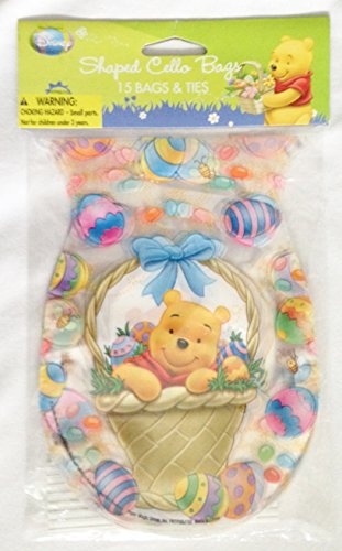 Disney's Winnie-the-Pooh Easter Egg Shaped Treat Sacks & Ties (15 Count) Easter Eggs Tie