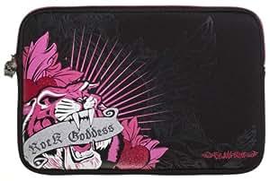 Glamrox Tigre Negro (10-11 Pulgadas Tablet / Ereader / Netbook) Neopreno Duradero Con Acolchado Interior De Caja Zip Soft / Cubierta Adecuada Para Lenovo Ideatab S6000