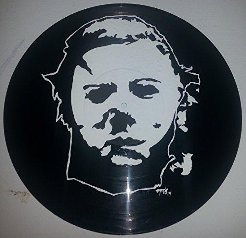 Hand painted Halloween, Michael Myers Horror vinyl record Wall art version -