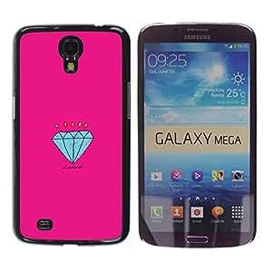 Paccase / SLIM PC / Aliminium Casa Carcasa Funda Case Cover para - Engagement Pink Cartoon - Samsung Galaxy Mega 6.3 I9200 SGH-i527