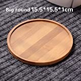 Gold Happy Bamboo Round Square Bowls Plates Succulents Pots Trays Base Garden Decor Home Decoration Crafts