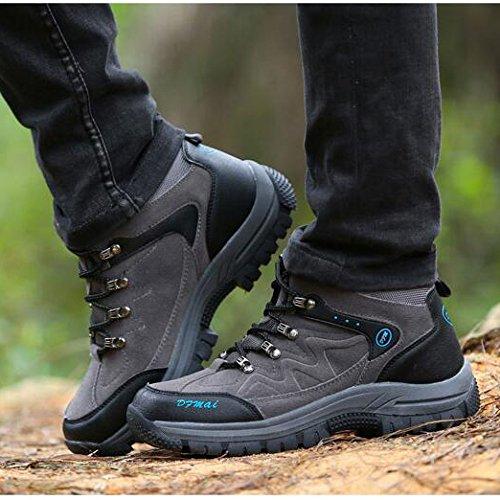 Outdoor da Grey da Scarpe Alta Arrampicata da Stivali Scarpe Trekking Scarpe Uomo Shoes Walking Resistenza Impermeabili Sportive Trekking Traspiranti da Ad Trekking DSFGHE BaFARnqq