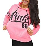 Tasatific Womens Active Sweatshirt Long Sleeve Athletic Hooded Pullover M Pink