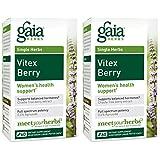 Gaia Herbs Vitex Berry, Vegan Liquid Capsules, 60 Count (Pack of 2) - Hormone Balance for Women, Organic Chaste Tree Berry Extract (1000 mg)