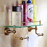 LAONA European style all copper antique carved bathroom fittings, soap box towel rack,Rack 1