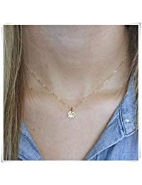 Dandelion Lotus Necklace , Gold Tiny Lotus Necklace, Tiny Lotus Pendant , Lotus Jewelry , Flower Necklace ,Dainty Necklace