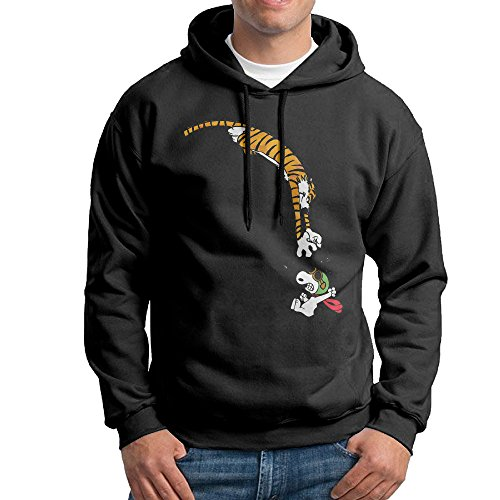 MNSTK Calvin And Hobbes Long Sleeve Crew-Neck Sweatshirt -