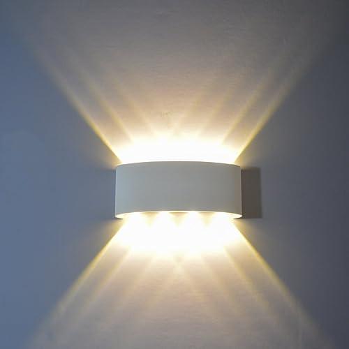 PHOEWON 8W LED Wall Light Modern LED Wall Sconce Lights Aluminium Spot Light  Night Lamp For